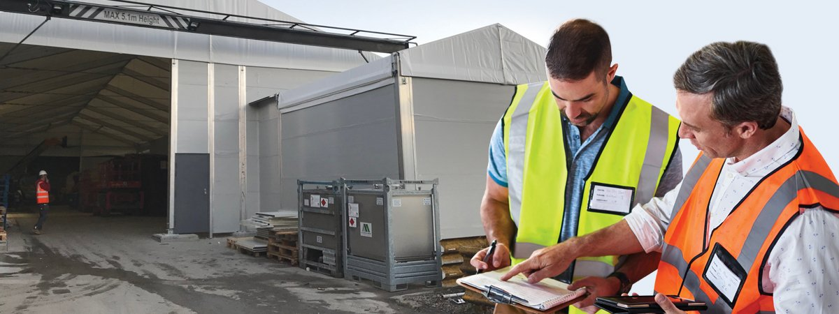 Expansion sees multiple adjoining temporary buildings as manufacturers growth solution