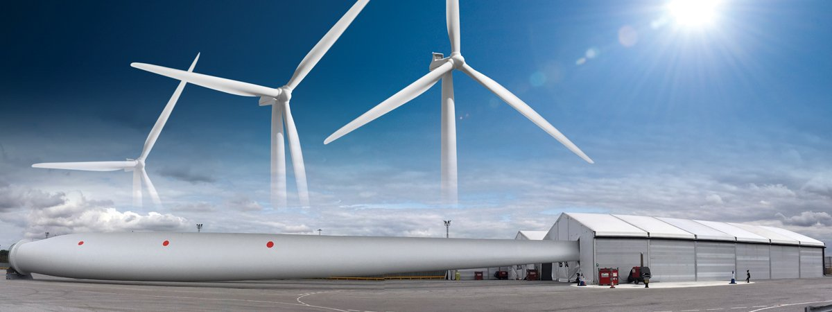 Temporary workshops enable the modification of wind turbines?